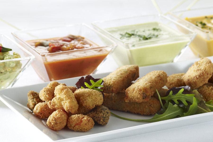 les tapas aperitif appetizers with 4 dip sauces ardo
