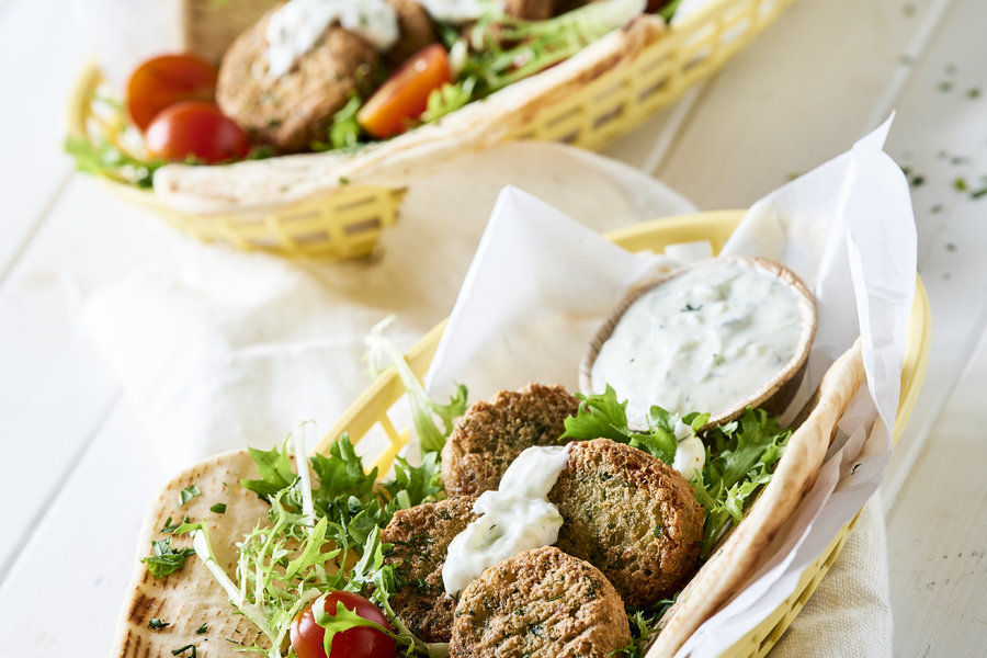 Falafel In Pita Bread With Tzatziki Ardo