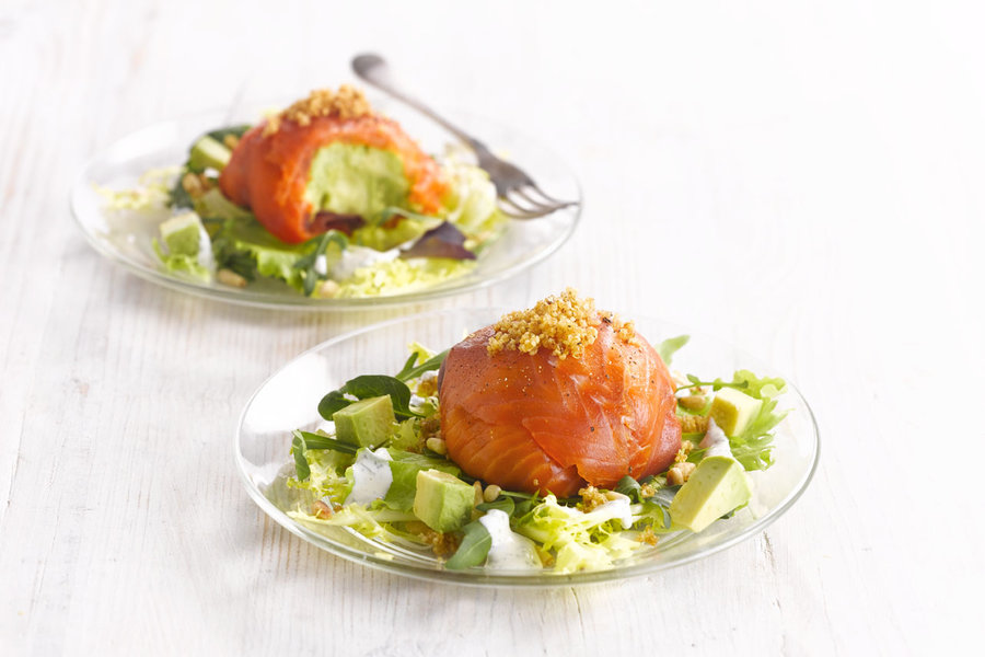 Salmon amuse-bouche with avocado | Ardo